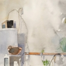 Eva Bender  Cindi's House (Home Making)  watercolor 11 x 12 inches