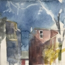 Eva Bender  Lemon St. Lancaster  watercolor 10.75 x 10.25 inches