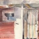 Eva Bender  Sauna  watercolor 9 x 12 inches