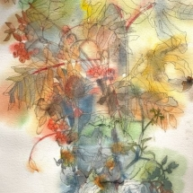 Eva Bender  Fall II  watercolor 19.5 x 16 inches