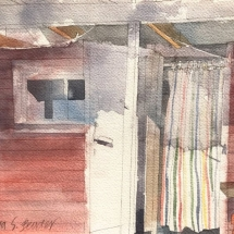 Eva Bender  Sauna  watercolor 9 x 12 inches