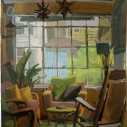 Catherine Drabkin Interior, Mt Gretna No 2 gouache 18 x 15 inches