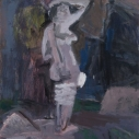 Janice Nowinski Bound Figure oil on linen 18 x 14 inches