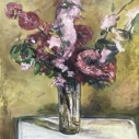 Patricia Bailey Crabapple Blossoms oil on canvas 24.75 x 18.75 inches