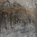 Ro Lohin Fall Birch oil on canvas 14 x 14 inches