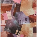 Peripatetic 1  Found Paper Collage  9.5 x 7.5 inches