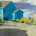 Lou Schellenberg  Everyone Has a Story  oil on canvas 16 x 30 inches