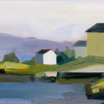 Schelleneberg_Across the Cove_6.5x14 oil panel 2006