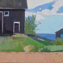Black Barn, oil on canvas, 12 x 12 inches