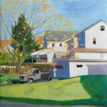Yard with Truck, oil on panel, 12 x 12 inches