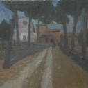 3 E. M. Saniga House at Faleri Nuvi 2012 oil on canvas 9.125 x 10.125 inches