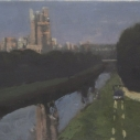 E. M. Saniga Beaucaire 2000 oil on board 7 x 10 inches