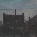 Kurt Knobelsdorf 241 N Prince St (Lancaster) 2005 oil on board 8.5 x 8.5 inches