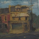 Kurt Knobelsdorf 801 N. Queen (Lancaster) 2005 oil on board 10.5 x 10.75 inches
