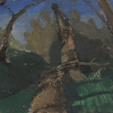Kurt Knobelsdorf Fallen Tree near the Octararo 2012 oil on board 6.75 x 8.5 inches