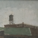 Kurt Knobelsdorf The old Smith Beverage Company 2005 oil on board 8 x 10 inches