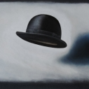 Richard Keltner Black Hat Pastel 22 x 30 inches