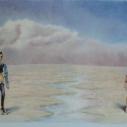 Richard Keltner Mannequins II Pastel 25 x 37.5 inches