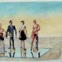 Richard Keltner Mannequins IV Pastel 25 x 37.50 inches