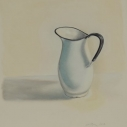 Richard Keltner Pitcher Pastel 25.5 x 19.5 inches