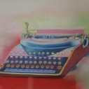 Richard Keltner Typewriter Pastel 16.5 x 22.5 inches