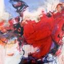 Dance of Fire I watermedia 22 x 30.5 inches