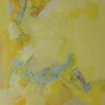 Color My World - Yellow  Acrylic on Paper  21 x 17.50 inches