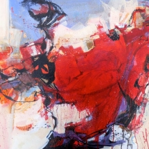 Dance of Fire I watermedia 22 x 30.5 inches