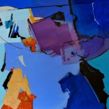 Once in a Blue Moon I watermedia 22.75 x 30.25 inches