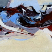 Rhythym and Blues IV  Acrylic on Paper  90.625 x 20.75 inches