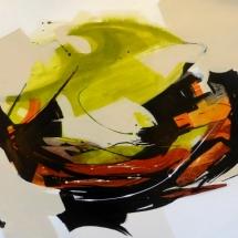 Spring's Awakening I  Acrylic on Paper   30 x 40.25 inches