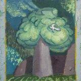 Alex Cohen Bird Tree Oil on Board 8.5x7.25 $850