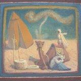 Alex Cohen Desert Scene with Well Oil on Board 12x13.25 $1600