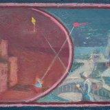 Alex Cohen Kite Flying Oil on Board 10x13 $1300