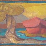 Alex Cohen Manmade Island Oil on Board 9x14.5 $1200