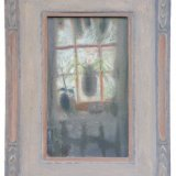 Alex Cohen Spiderplant framed Oil on Board 10x6 $1050framed $750unframed