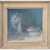 Alex Cohen Still life with Ice Cream Oil on Board 9x10 $1250 framed $900 unframed