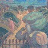 Alex Cohen The Whistle Oil on Linen 15x16 $2850 framed $2500unframed