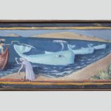 Alex Cohen Wayward Pod Oil on Board 6x17 $1100