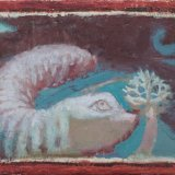 Alex Cohen Woodworm and the Seedling Oil on Board 5.75x15 $950