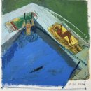 Dee Jenkins At The Pool oil and wax on paper 18 X 18.75 inches, $2,000