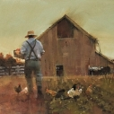 Dick Whitson, Late Pickin's, oil on canvas 11 x 14 inches