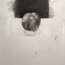 Jeff Geib, Black Apple,  graphite drawing 16 x 12 inches