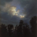 Rob Evans, Opening, pastel on museum board 5 x 4 inches
