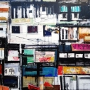 Susan J. Gottlieb, Old Delhi, India, mixed media on canvas 36 x 48 inches