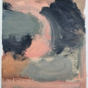 Golias - untitled 16, oil on paper 7 x 6.5 inches