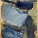 Golias - untitled 18, oil on paper 7 x 5.5 inches