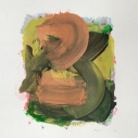 Golias - untitled sm 11, acrylic on paper 4 x 3 inches