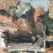 Untitled PA 4  oil on paper 6 x 8 inches