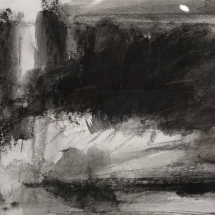 Untitled  charcoal on paper 7 x 10 inches